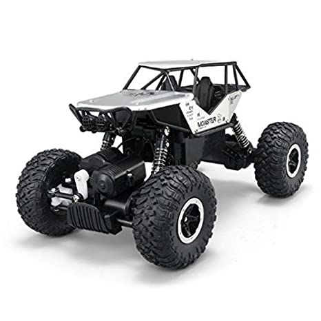deAO RC Coche Rock Crawler Todoterreno 4WD Control Remoto 2.4GHz Vheículo 4x4 Rastreador de Roca