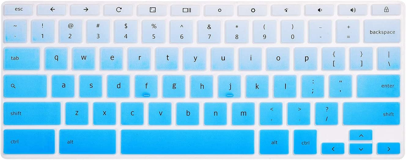 """HP Chromebook 14"""" Keyboard Cover Skins Compatible with HP 2-in-1 14"""" Touchscreen Chromebook,HP Chromebook X360 Touchscreen,HP Chromebook 14-DA 14B-CA Series(Ombre Blue)"""