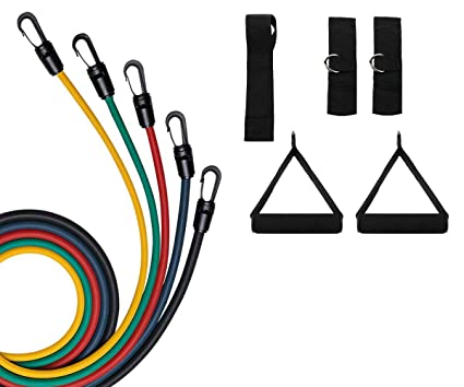 Amazon.com: AVGDeals Bandas de resistencia 11 piezas de tubo ...