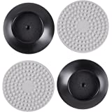 4 Pack Baby Gates Wall Pads,Wall Guard Pads for Pet Gate Wood, Child Gate,Stair Gate,Safety Gate Wall Protector Cups (Black ) by Rekukos