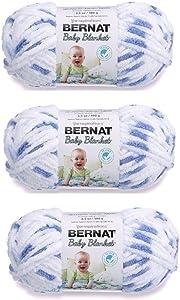 Bernat Bulk Buy Baby Blanket Yarn (3-Pack) Little Denim 161103-3116
