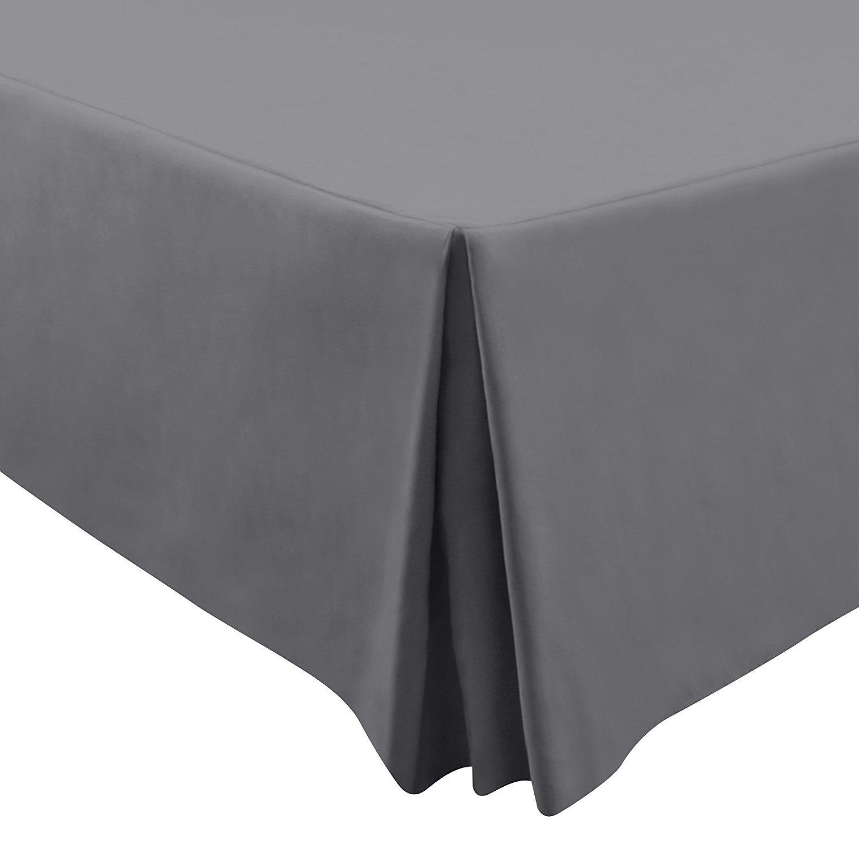 Utopia Bedding Premium 100% Cotton Bed-Skirt Dust Ruffle (King, Grey) - Durable, Comfortable, Abrasion Resistant, Quadruple Pleated – Machine Washable