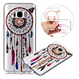 Galaxy S8 Case,Galaxy S8 Clear Case,PHEZEN Retro Aztec Dreamcatcher Design Ultra Thin Anti-Scratch Flexible TPU Gel Rubber Soft Skin Silicone Protective Case Cover For Samsung Galaxy S8