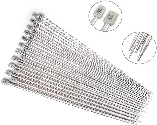 KnitPro Aguja Tejer caso para un solo en punta agujas para tamaños de aguja 25//30