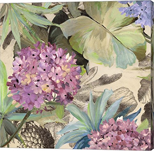 Pink Hydrangeas by Eve C. Grant Canvas Art Wall Picture, Gallery Wrap, 12 x 12 inches