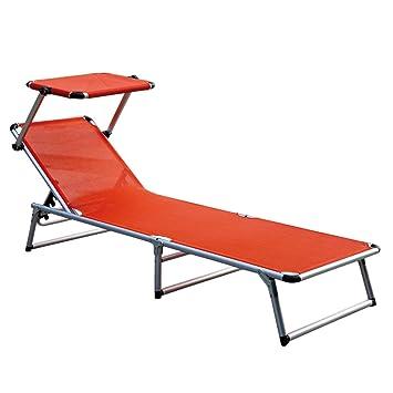 Commodes Chaise de Jardin Alu Orange La Chaise Longue