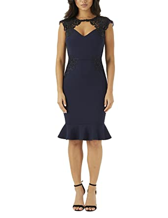 0fb605ad Lipsy Womens Side Sequin Lace Bodycon Dress - Blue -: Amazon.co.uk: Clothing