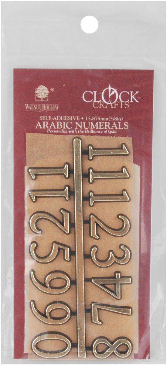 Gold 122610 Walnut Hollow Arabic Clock Numerals .625