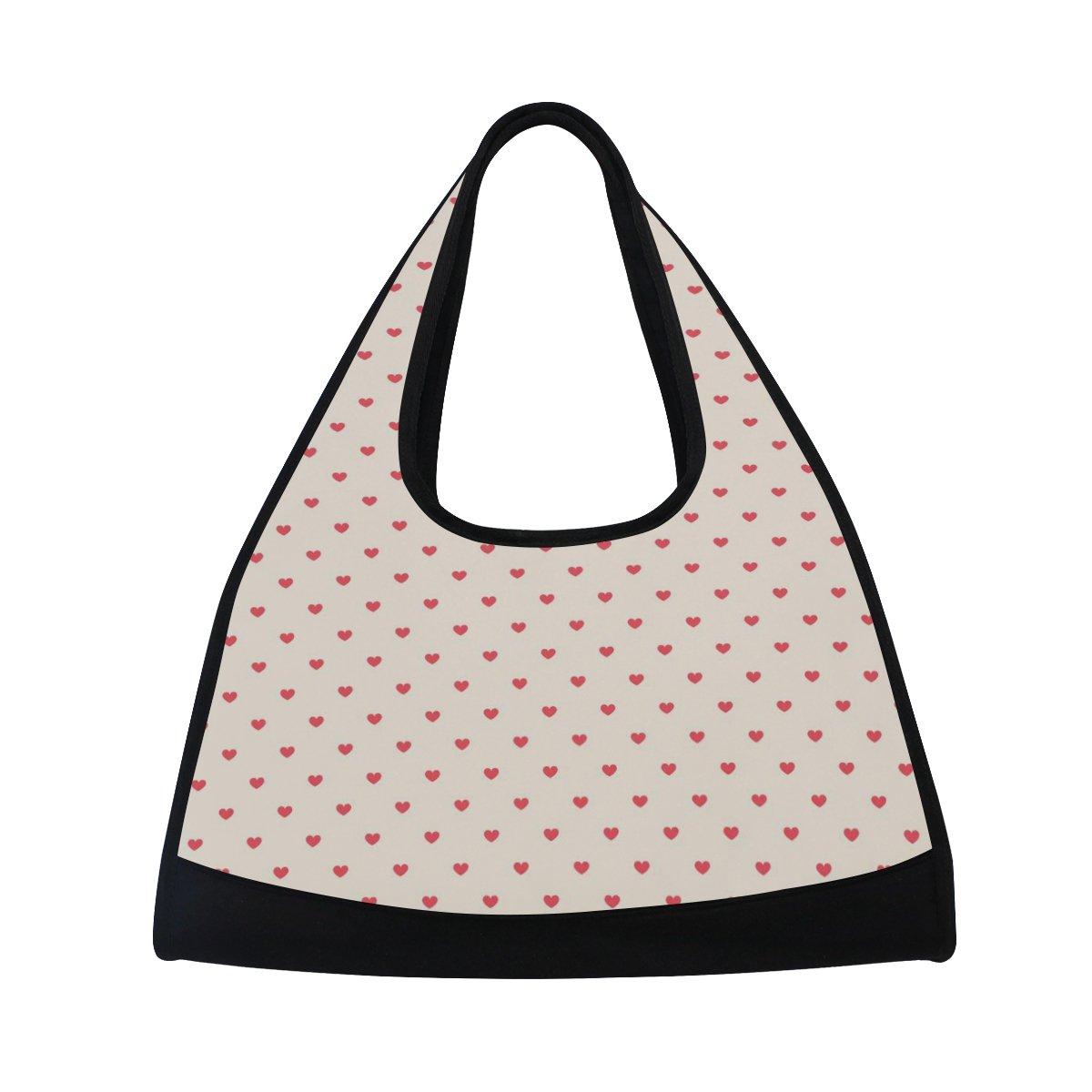 Sport Gym Bag Valentine's Day Heart Love Canvas Travel Duffel Bag