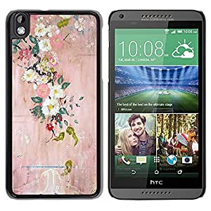 For HTC DESIRE 816 , S-type® Blossoming Tree Art Painting - Arte & diseño plástico duro Fundas Cover Cubre Hard Case Cover