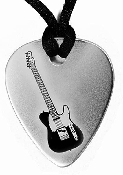 Guitar 925 Silver Musical Instrument Pendant Charm Gift Boxed