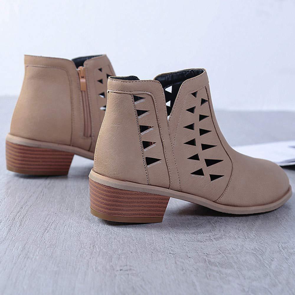 POLPqeD Zapatos Mujer otoño 2018 Botines Mujer Invierno Zapatos y Botas otoño 2018 Botines Comodos Invierno Botines Talon Mujer Tacon Zapatos Invierno Mujer ...
