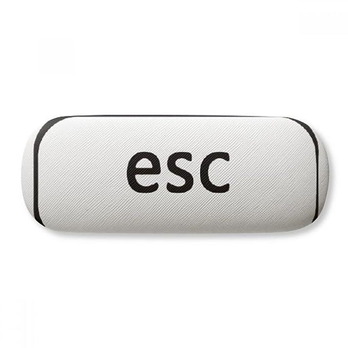 Keyboard Symbol Esc Glasses Case Eyeglasses Clam Shell Holder