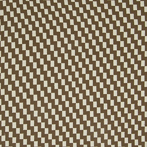 Chocolate Brown Geometric Check Houndstooth Woven Upholstery Fabric by the yard Houndstooth Upholstery Fabric