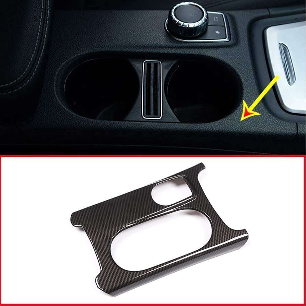 AUTO Pro para Mercedes Benz LHD A GLA CLA Clase C117 W117 W176 X156 2012-2018 ABS plástico Cromado Soporte de Taza Cubierta Trim Fibra de Carbono