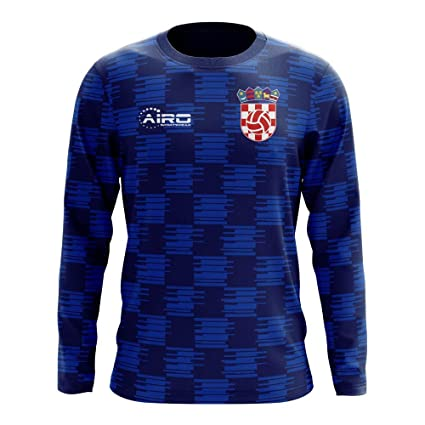 Image Unavailable. Image not available for. Color  Airo Sportswear 2018-2019  Croatia Long Sleeve Away Concept Football Soccer T-Shirt Jersey 86cc198a6