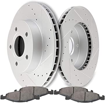 2000 2001 Fit Jeep Cherokee Rotors Ceramic Pads F OE Replacement