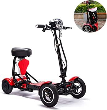 Z@SS Bicicleta eléctrica Plegable portátil de 4 Ruedas, aleación ...