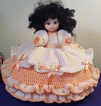 Amazon 1988 Fibre Craft Doll Crochet Pillow Doll Pretty Paintings