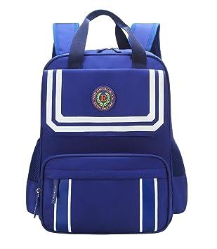 E KUIZAI - Mochila Bolsa Ligera para Niños de Escuela Primaria Mochilas Impermeables con Cremallera Velcro para Deporte Excursionismo para Niños de 4-6 ...
