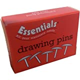 Whitecroft Essentials 34231 Value 9.5mm Brassed Drawing Pin (Pack of 100)