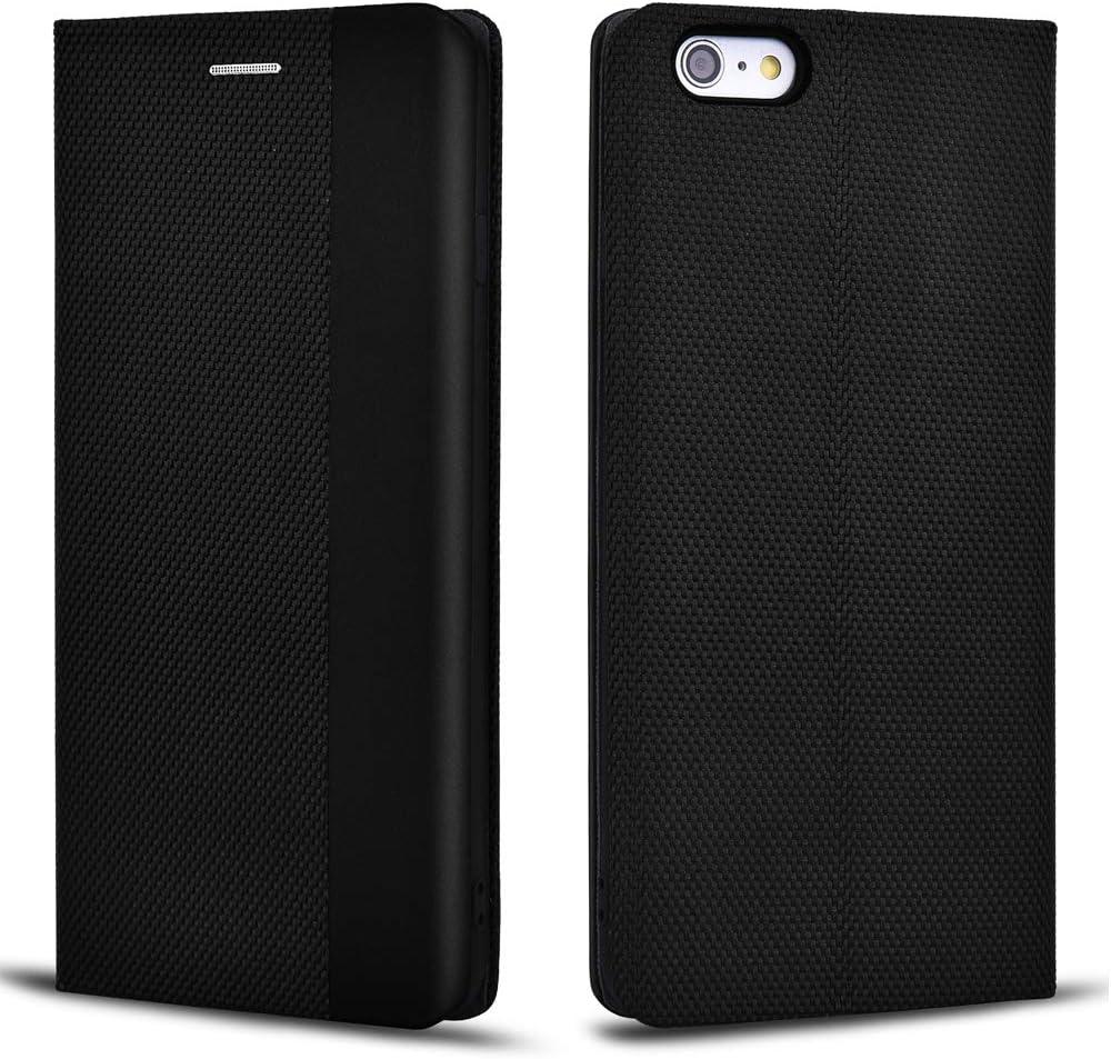 Aicoco Protective Case for Apple iPhone 6 Plus/6S Plus Phone Leather Flip Folio Case Cover (Black)