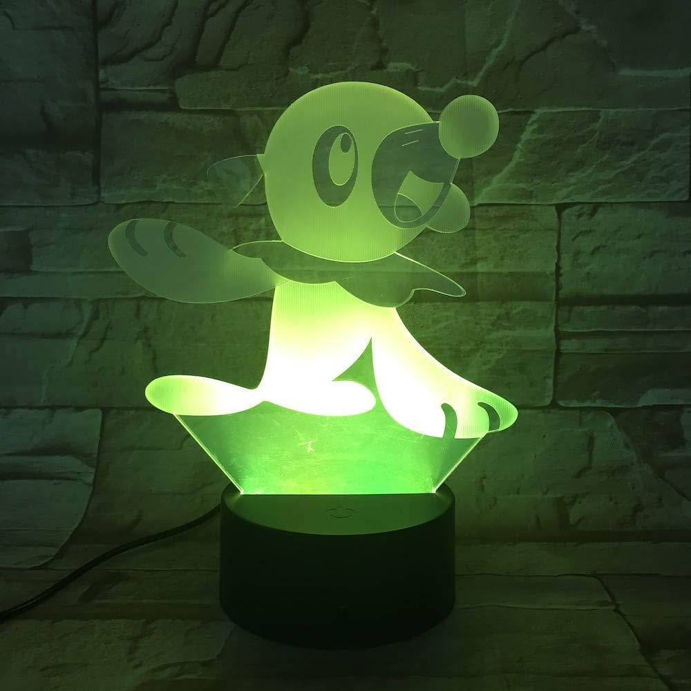 Pokemon Go Popplio Figura luz de noche para bebés LED color cama ...