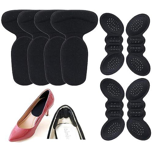 [Anacend] かかとパッド 靴ずれ防止パッド メンズ レディース かかとクッション 靴かかと保護パッド パカパカ防止 インソール サイズ調整  中敷き 痛み軽減 足裏保護 男女兼用 2種類の8枚セット