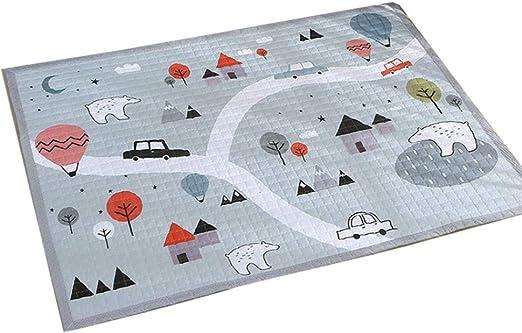 Alfombra de algodón simple – alfombra de juego para gatear, manta de yoga, alfombra de salón – Parque del bosque (1,45 x 1,95 metros de grosor 1,5 cm): Amazon.es: Amazon.es