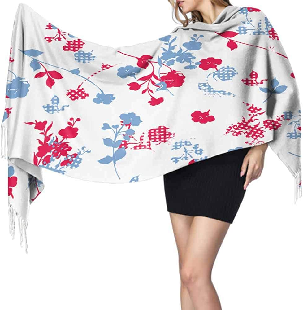 Decorative Pattern Silk Scarf For Hair Autumn And Winter Soft Warm Scarf