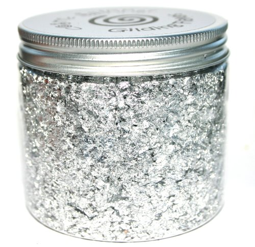 - Creative Expressions Silver Moon - Cosmic Shimmer Gilding Flakes 200ml