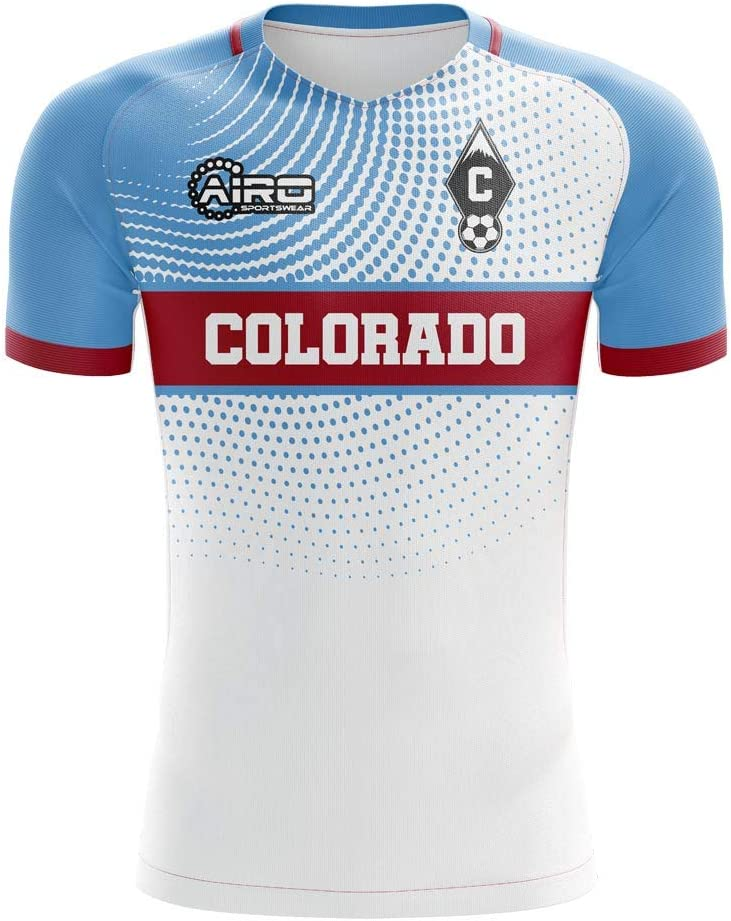 Airosportswear 2019-2020 Colorado - Camiseta de fútbol para Mujer, Mujer, Blanco, XL - UK Size 16: Amazon.es: Deportes y aire libre