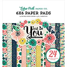 """Echo Park Paper Company JBY119023 Just Be You Paper Pad, 6 x 6"""""""