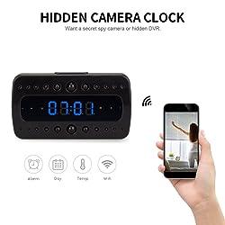 FREDI HD 1080P Wifi Camera Alarm Clock Night