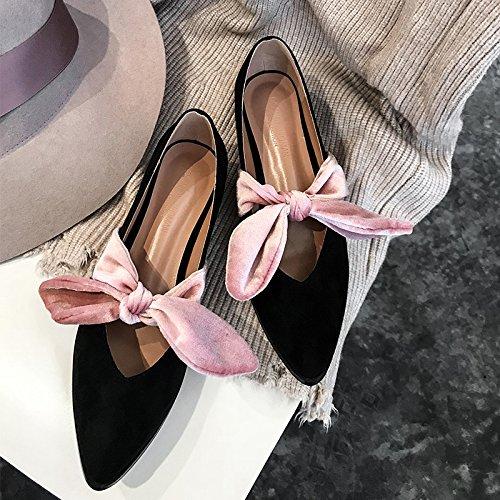 Xue Qiqi Court Schuhe Flache Flache Flache Flache beiläufige Schuhe der Flachen Schuhe des Flachen Absatzes der Flachen Schuhe Baotou Wildledermode-Schaufelschuhe c5a244