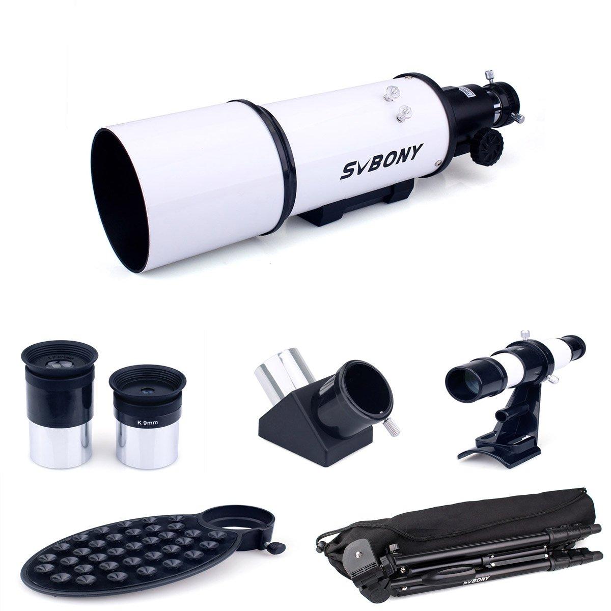 Blanc Svbony SV20 T/élescope Astronomique 80//400 R/éfracteur Monoculaire Espace T/élescope avec Tr/épied l Adaptateur de T/él/éphone