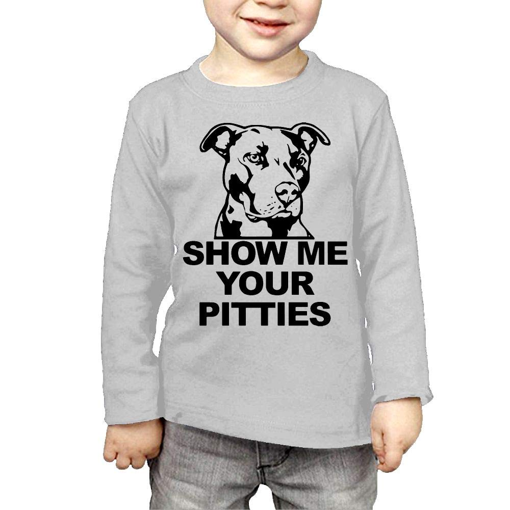 Fryhyu8 Toddler Kids Show Me Your Pitties Printed Long Sleeve 100/% Cotton Infants T-Shirts