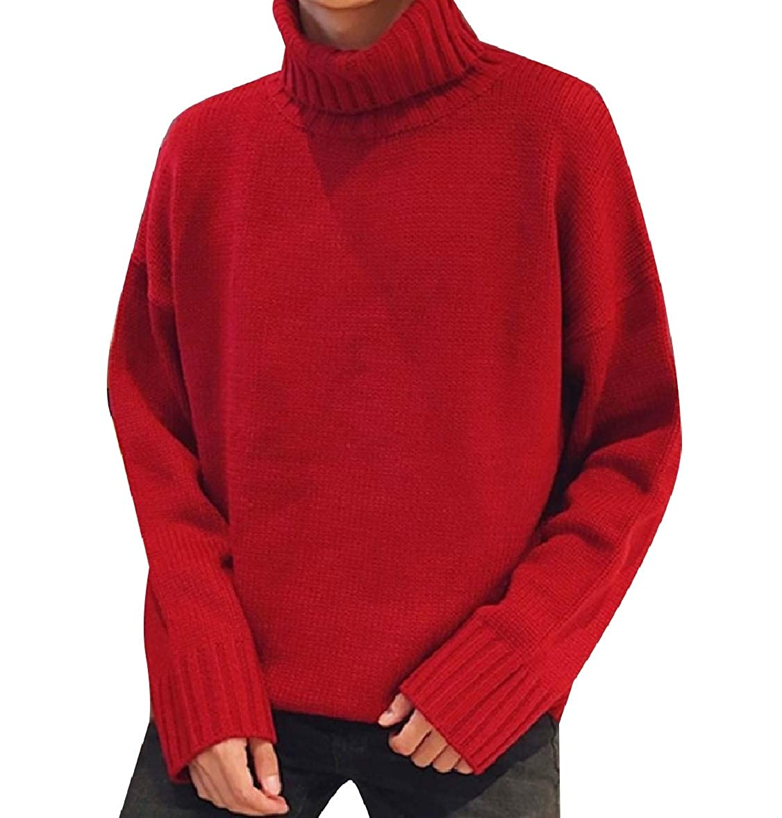 Zimaes-Men Sweater Pure Color Turtleneck Fashion Warm Pullover Knitwear