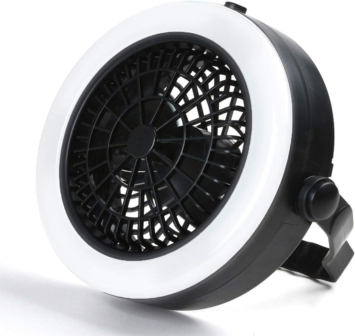 Odoland 2-en-1 Portable LED de techo Luz y Fan- 360 grados Camping ...