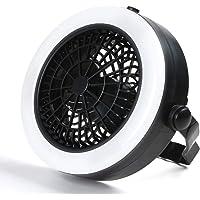 Odoland 2-en-1 Portable LED de techo Luz y Fan- 360 grados Camping Luz Ideal para camping senderismo y pesca