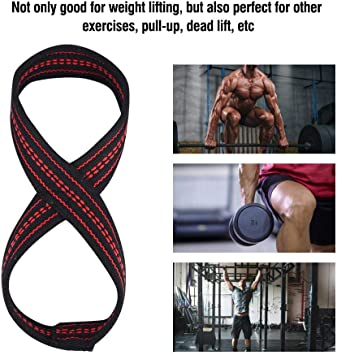 Soft Figure 8Weight Lifting Strap Gym Training Support Hand Protective Sleeve❤M