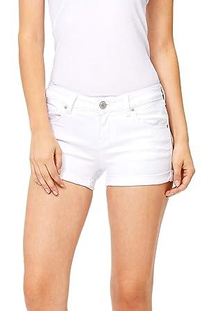 f368ea0cf Wax Women's Juniors Mid-Rise Denim Shorts at Amazon Women's Clothing ...