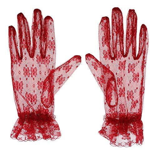 Homyl レースグローブ 手袋 結婚式 パーティー 花嫁 レース エレガント レトロ レディース ファッション 4タイプ選べ