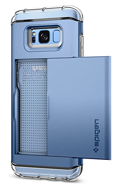 timeless design eb5a7 17b05 Spigen Crystal Wallet Galaxy S8 Plus Case with Slim Dual Layer Wallet  Design and Card Slot Holder for Galaxy S8 Plus (2017) - Blue Coral