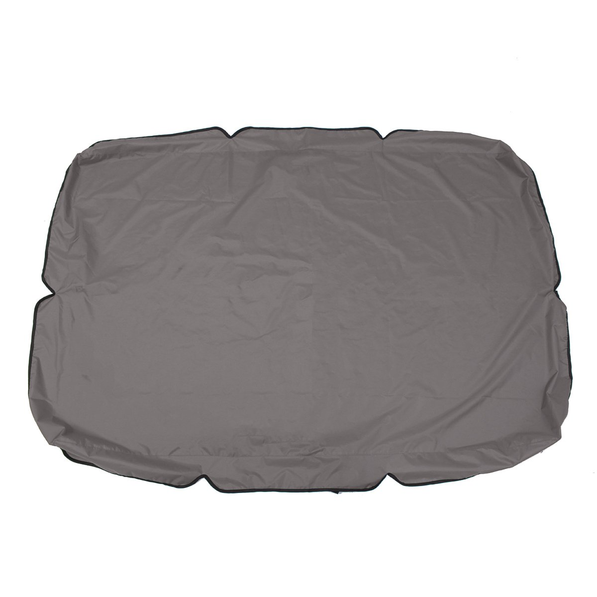 Essort Swing Canopy, 2 to 3 Seaters Waterproof Anti-UV Swing Top Cover Canopy Replacement for Outdoor Porch Patio Swing and Garden Hammock, 75'' × 52'' × 5.9'' Grey by ESSORT (Image #2)
