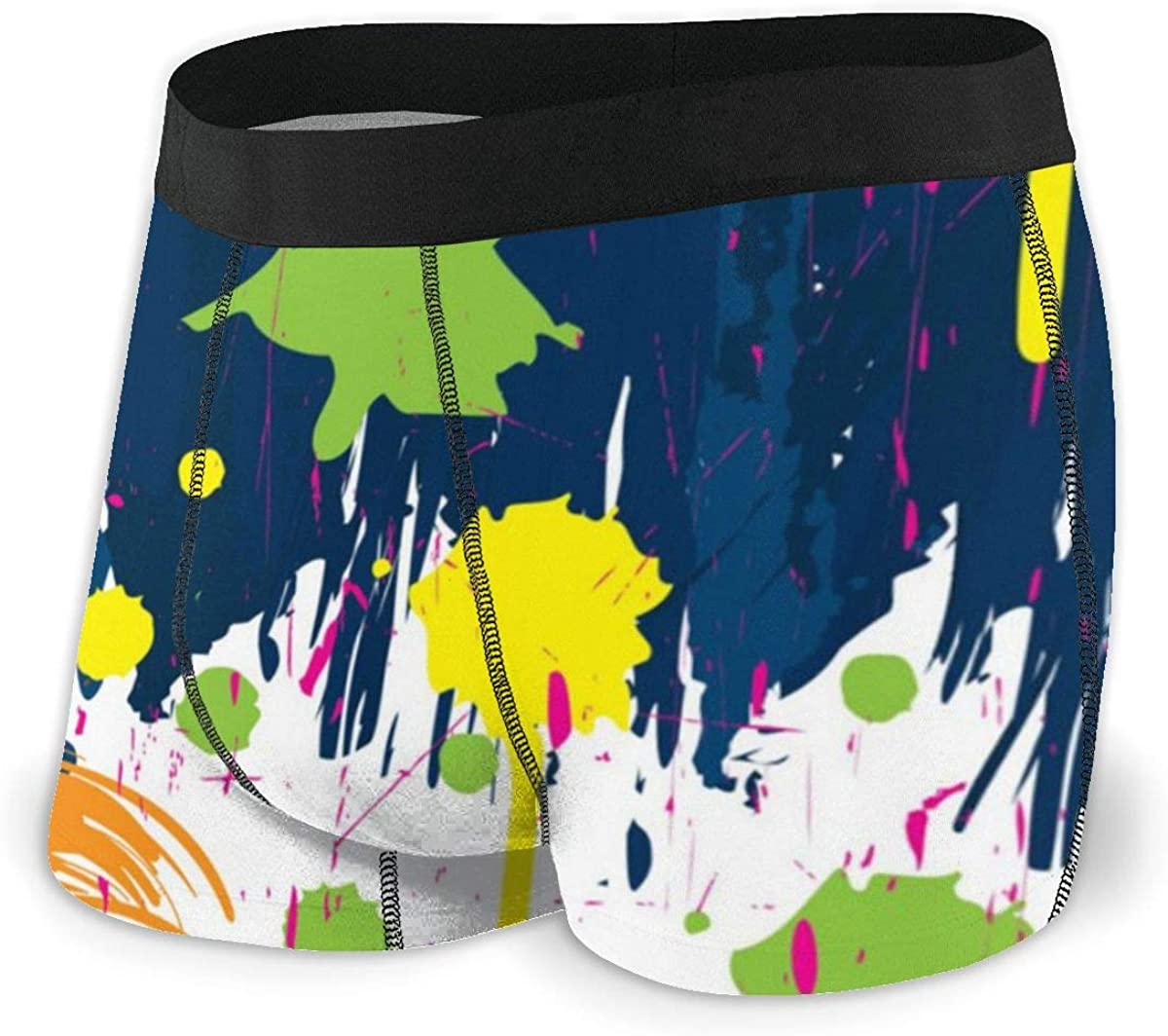 Men's Boxer Briefs Dark Blue Liquid Underwear Trunks Comfortable Training Classic Sweat Proof Bikini Panties