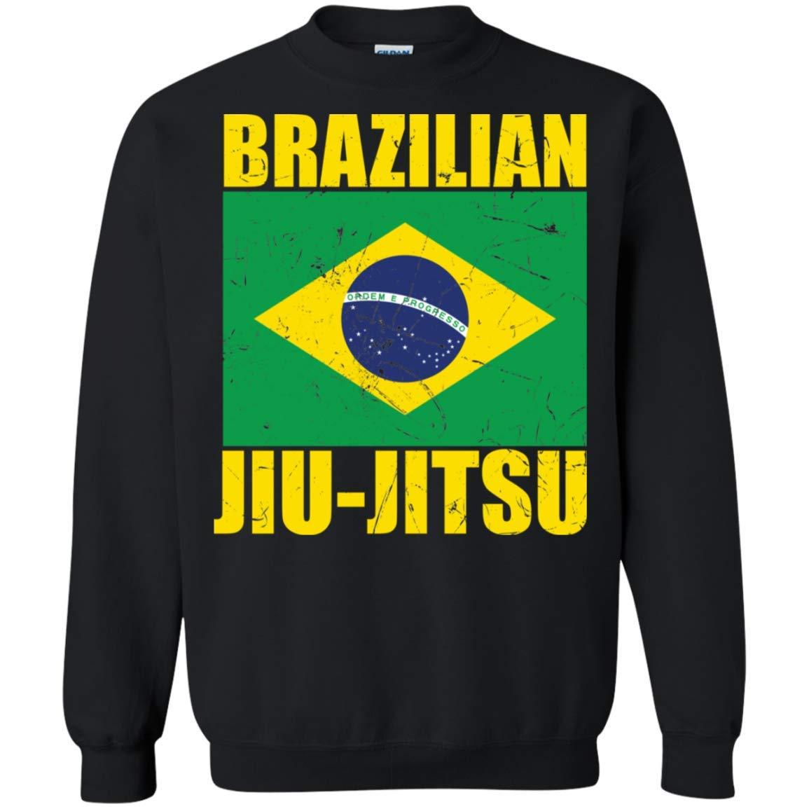 Superhero Gear Brazilian Jiu Jitsu Flag BJJ Crewneck Pullover Sweatshirt 8 oz.