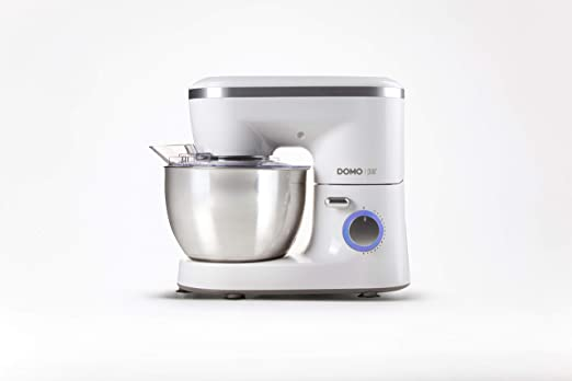 Domo DO9175KR 700W 4L Plata, Color blanco - Robot de cocina (4 L, Plata, Blanco, Giratorio, Acero inoxidable, 700 W, Masa, Mezcla): Amazon.es: Hogar