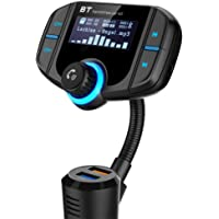 Adaptateur Voiture Rapide QC3.0 Bluetooth V4.2 Mains Libres Transmetteur FM Auto Fonction A2DP Avec Grand Ecran Information et Dual USB Support Radio Pour iPhone, iPad, Tablette, Andriod