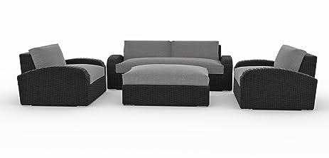 amazon com toja azores outdoor patio sofa set 4 pcs wicker